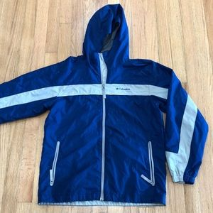 Columbia Hooded Windbreaker Blue 14-16